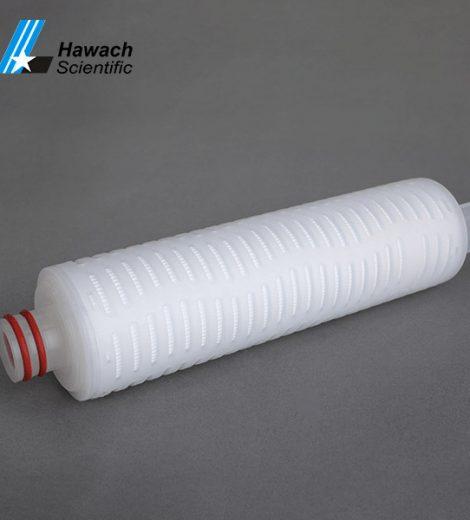 Cartuș filtrant plisat cu membrană pes