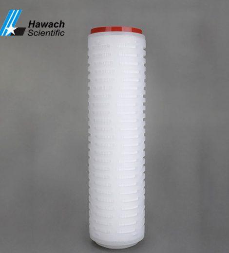 Cartuș filtrant plisat cu membrană ptfe